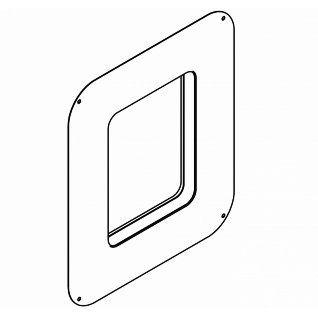Schiebe-Klebeflansch für die Systembox von Franke ACBX9002 F3