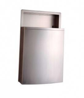 Bobrick B-43644 Abfallbehälter für Wandeinbau mit LinerMate 48 Liter