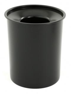 Selbstlöschender Papierkorb aus Stahl, 20 Liter Schwarz