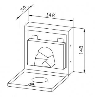 Wagner-EWAR Hygienebeutelspender WP256 Edelstahl für Unterputzmontage - Vorschau 2