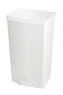 Tritt-Mülleimer mit Beutelhalter Weiß
