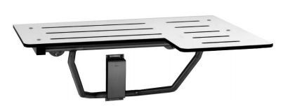 Bobrick B-5181 Umkehrbarer Duschklappsitz zur Wandmontage bis zu 163 kg belastbar