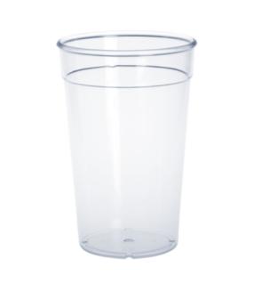 Kunststoff Mehrweg-Becher glasklar 0, 2l - 0, 5l PC wiederverwendbar stapelbar