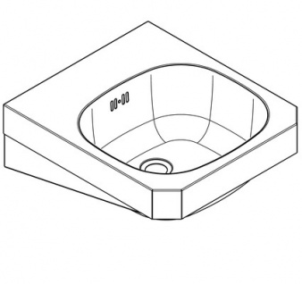 Franke Waschtisch WT400C aus Chromnickelstahl mit Überlauf zur Wandmontage - Vorschau 2