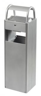 Rossignol Ascher/Abfallbehälter aus Stahl + Pulverbeschichtete Aluminiumprofile