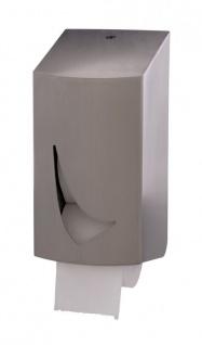 Toilettenpapierspender für 2 kernlose Rollen aus Edelstahl von Wings