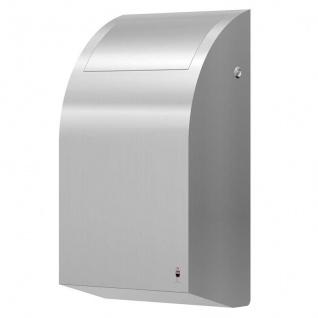 Dan Dryer Abfallbehälter 30L aus gebürstetem Edelstahl mit Schwingverschluss