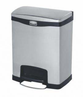 RUBBERMAID Slim Jim® Metall-Tretabfallbehälter mit Pedal an der Breitseite 30 L - Vorschau 2