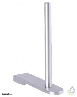 Proox® ONE pure PU-390 moderner Reserve Rollenhalter aus Edelstahl matt gebürstet