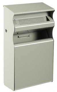 Rossignol Kopa Wandascher/Abfallbehälter aus korroisionsgeschütztem Stahl