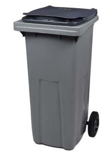 Graue Mülltonne aus Kunststoff aus reinem Polyethylen mit hoher Dichte von Rossignol