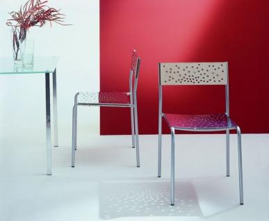 Graepel Tempesta hochwertiger Indoor Stuhl aus Edelstahl 1.4016 verchromt - Vorschau 2