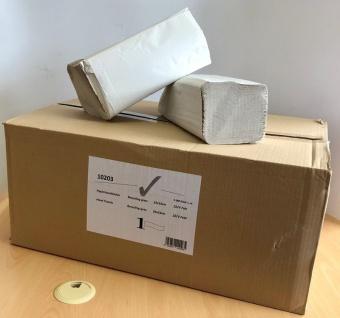 Palette (32 Kartons - je 5000 Stk.) Papierhandtücher V-Falz - 100% recycled - grau