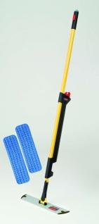 RUBBERMAID Pulse™ Mikrofaser-Bodenreinigungssystem und 2 Mopps im Set - Schwarz/Gelb