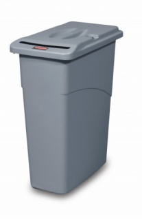 RUBBERMAID Slim Jim® Confidential Combo Grau aus Polyethylen mit Deckel