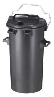 Kunststoff Mülleimer 50 Liter Dunkel Grau