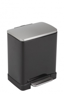 Recycling-Tritt-Mülleimer E-Cube 10+9 Liter, EKO