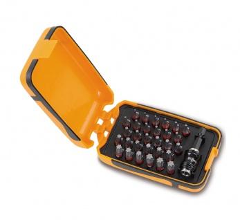 Beta Sortiment mit 30 Schraubeinsätzen und magnetischer, schnellauslösender Schraubeinsatzhalter, im Kunststoffkasten 860TX/A31