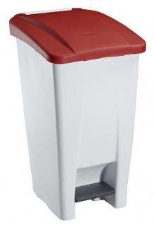 Rossignol fahrbarer Abfallbehälter mit Pedal 60L aus Polyethylen-Kunststoff