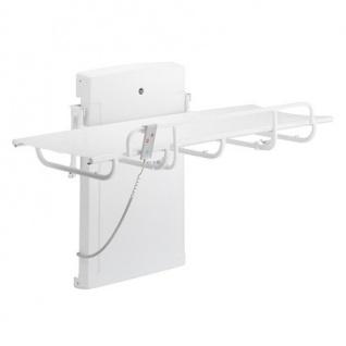 Pressalit Weiße Dusch- und Pflegeliege mit Motor, 765x1400mm oder 765x1800mm