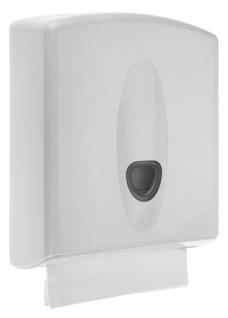 PlastiQline 2020 Papierhandtuchspender aus Kunststoff mit Schloss zur Wandmontage