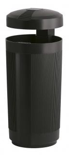 Abfalbehälter für draußen mit Dach 50 Liter aus Polyethylen