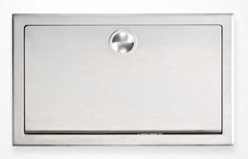 Edelstahl Koala Wickeltisch KB110-SSRE Horizontal Unterputz MICROBAN® Hygieneschutz