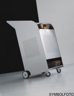 Graepel High Tech hochwertiger W.O.W. Kaminholzwagen Indoor aus Edelstahl AISI 430
