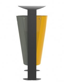 Rossignol Arkea Abfallbehälter 2 x 60L aus Stahl mit Standfuss in 3 Farben erhältlich