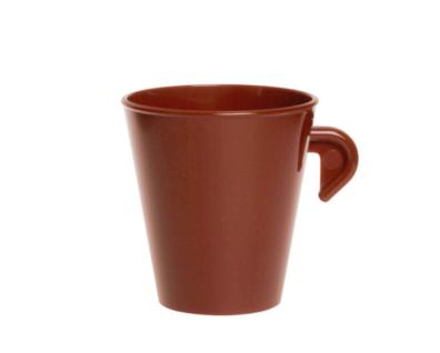 20er Set Espresso Tasse 0, 1l SAN braun aus Kunststoff wiederverwendbar - Vorschau