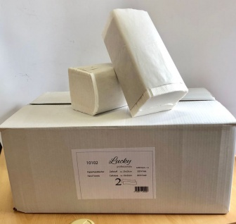 Papierhandtücher 2-lagig Zellstoff weiss ZZ-Falz - 4000 Blatt / VPE