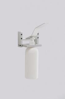 Desinfektionsmittelspender aus Aluminium zur Wandmontage mit / ohne Flasche - Vorschau 2