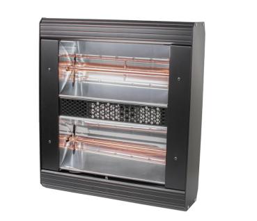 Heatlight HLQB Quarz schwarzer Infrarotstrahler 3000 Watt mit 2 versch. Lampenfarben