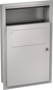 Franke Hygieneabfallbehälter RODX612E aus Chromnickelstahl zur Unterputzmontage