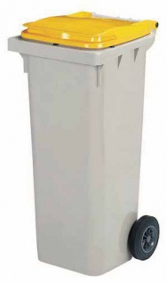 Rossignol Korok graue Mülltonne mit 2 Rädern entspricht der Norm EN-840 1 bis 6