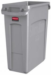 RUBBERMAID Slim Jim® Abfallbehälter aus Kunststoff mit Lüftungskanälen 60L