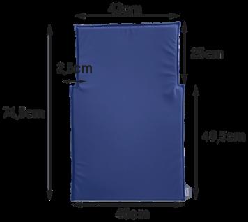 Wickeltisch-Auflage Kawabasic in blau oder weiß Timkid