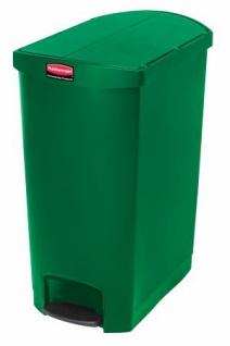 RUBBERMAID Slim Jim® Kunststoff-Tretabfallbehälter mit Pedal an der Schmalseite 90 L - Vorschau 2