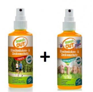 Set Insect-OUT® Stechmücken und Zeckenschutz forte 100 ml + Lotion für Kinder 100 ml