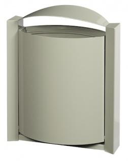 Rossignol Arkea Abfallkorb 40L zur Wandmontage aus korrosionsgeschütztem Stahl