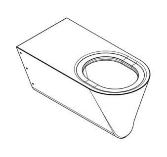 Franke CMPX594 Tiefspül-WC behindertengerecht geeignet zur Wandmontage - Vorschau 2