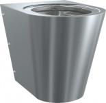 Franke Wand-Boden-WC CMPX597 aus Chromnickelstahl zur Wandmontage
