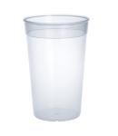 Kunststoff Mehrweg-Becher transparent 0, 2l - 0, 5l PP wiederverwendbar stapelbar