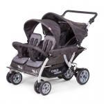 Childhome Quadruple 2 Autobrake Vierlingsportwagen Anthrazit +Rs+Sc