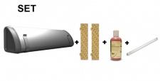 SET Insect-O-Cutor + 2x12 Klebefolien + Fliegenlockstoff+ UV Rohr Splitterschutz