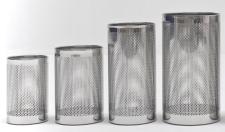 Graepel G-Line Pro FORATO Papierkörbe aus poliertem Edelstahl 1.4016, 4 Größen