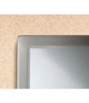 Bobrick B-2908 Serie Stilvoller Hartglas Rahmenspiegel aus Edelstahl matt geschliffen