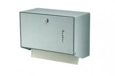 MediQo-line Kleiner abschließbarer Papierhandtuchspender zur Wandmontage aus Aluminium oder Edelstahl