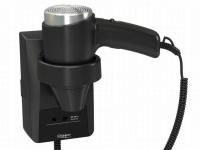 Haartrockner Clipper Evolution 1400 mit Rasiersteckdose - IP21 - Schwarz