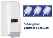 Hyprom Set Angebot Seifenspender Contract o Box mit 3 Packungen Lotion Seife